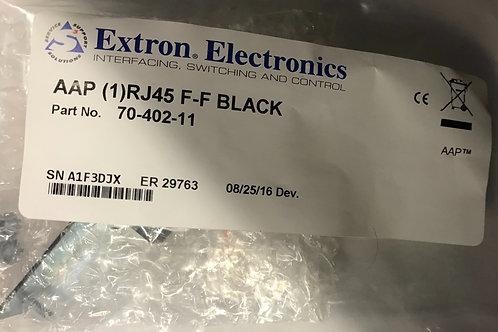 Extron Electronics AAP (1)RJ45 F-F, Black  PN: 70-402-11