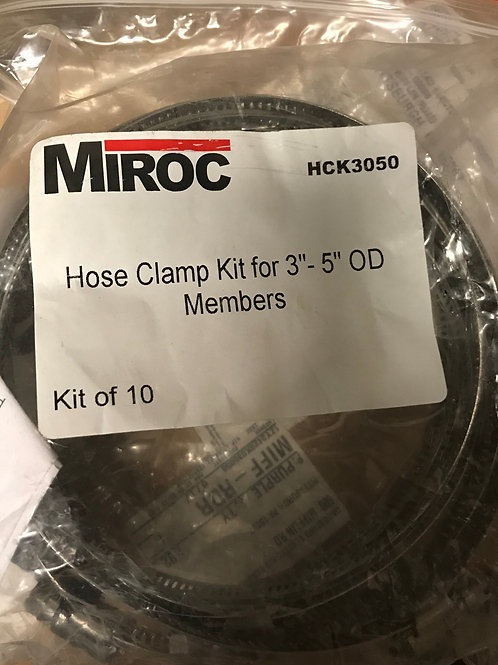 "Miroc HCK3050 Hose Clamp Kit for 3"" – 5"" OD Members"