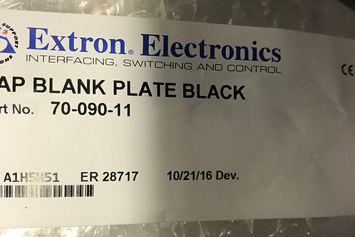 Extron Electronics AAP Blank Plate, Black  PN: 70-090-11