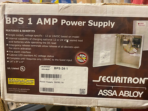 Securitron AssaAbloy BPS 1 AMP Power Supply, Almond – PN: BPS-24-1