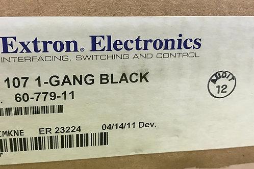 Extron WPB 107 1-Gang Black, PN: 60-779-11