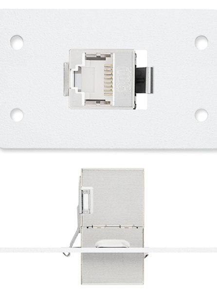 Extron One XTP DTP 24 Coupler, White – PN: 70-1052-21