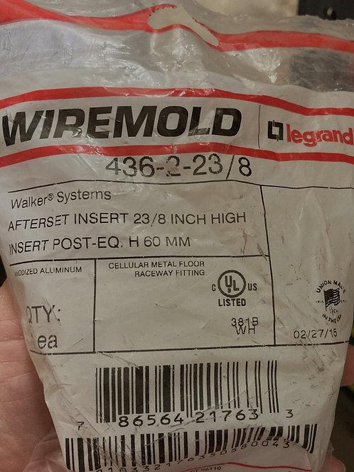 Legrand Wiremold Aluminum Afterset Insert, PN: 436-2-23/8