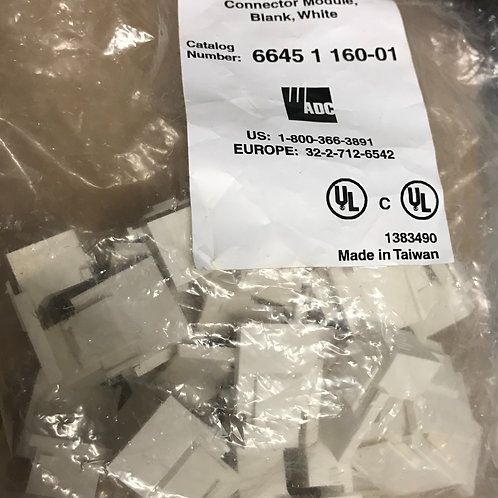 ADC Blank Connector Module, White, per pack – PN: 6645 1 160-01