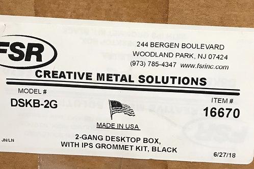 FSR 2-Gang Desktop Box w/IPS Grommet Kit, PN: 16670