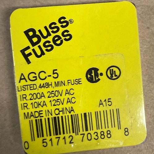 Buss Fuses AGC-5 Fuse (Current Manufacturer is Eaton)