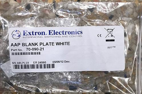 Extron AAP Blank Plate (White) – P/N: 70-090-21