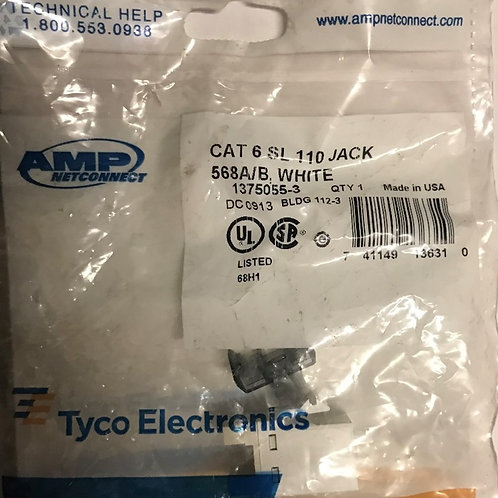 AMP NetConnect CAT6 SL110 Series Modular Jack, White – PN: 1375055-3