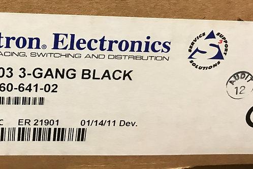 Extron SMB 103 3-Gang, Black – PN: 60-641-02
