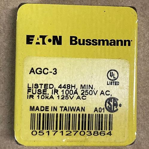 Eaton Bussmann AGC-3 Fuse