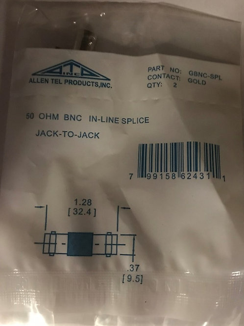 AllenTel GBNC-SPL 50-Ohm BNC In-Line Splice, 2-pk