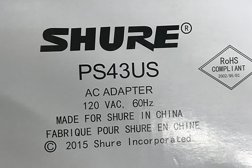 Shure PS43US Power Supply for Wireless Receivers
