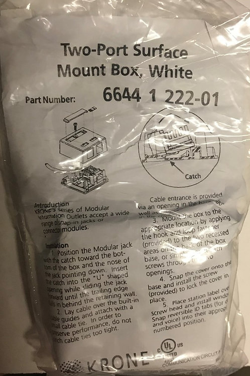 Krone 2-Port Surface Mount Box Kit, White – PN: 6644 1 222-01 (Now a division of