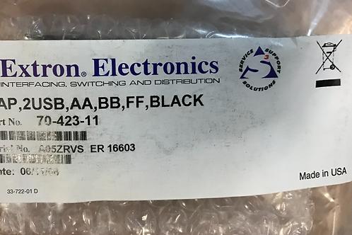 Extron AAP, 2USB, AA, BB, FF, Black (One USB A Female to Female Barrel, One USB
