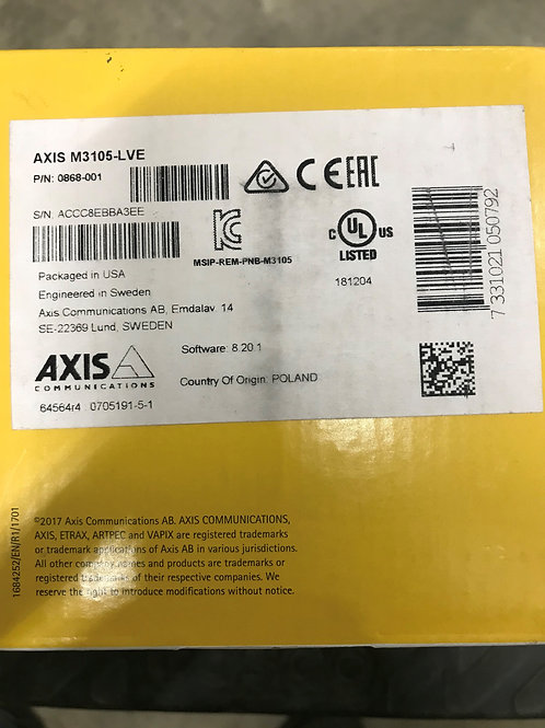 Axis M3105-LVE – P/N: 0868-001 (Product Discontinued)