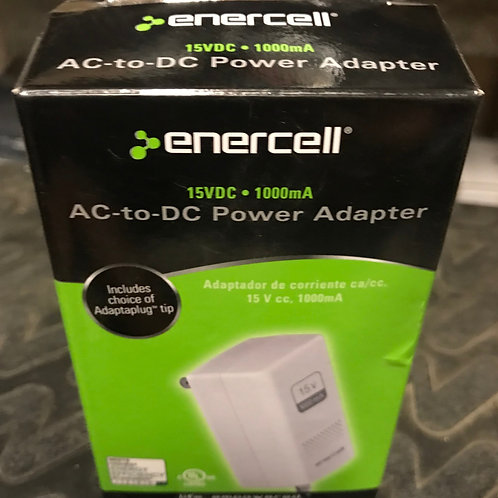 Enercell 15VDC 1000mA AC to DC Power Adapter