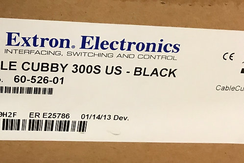 Extron Cable Cubby 300S US – Black, PN: 60-526-01