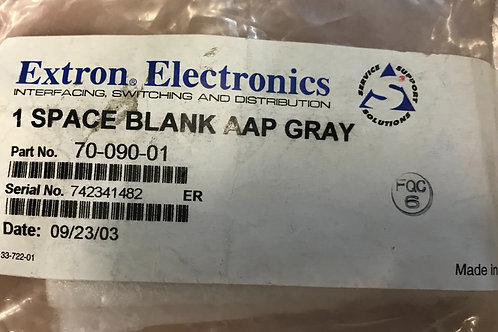 Extron 1 Space Blank AAP Gray, PN: 70-090-01