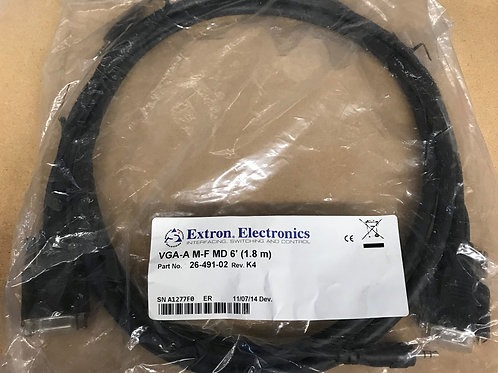Extron 6 ft. VGA-A Cables Male to Female – P/N: 26-491-02 (Product Discontinued)