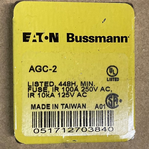 Eaton Bussmann AGC-2 Fuse