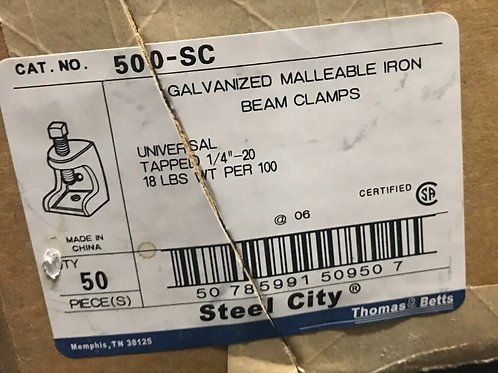 """Thomas and Betts 500-SC Malleable ¼"""" Beam Clamp"""