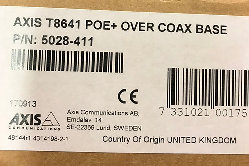Axis T8641 POE+ Over Coax Base PN: 5028-411