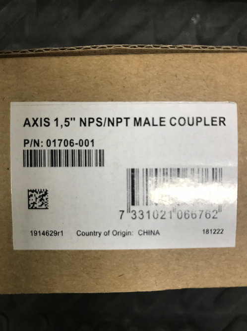 "Axis 1, 5"" NPS/NPT Male Coupler – P /N: 01706-001"