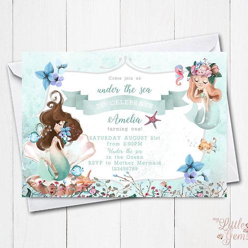 Mermaid Magic Invitation