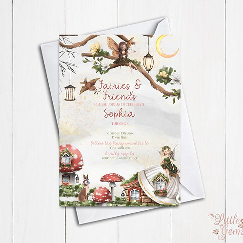 Fairies and Friends Invitation