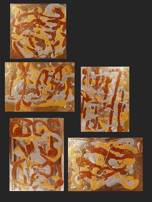 Abstract art Painting - Gold and Silver