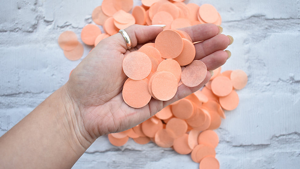 Peach Circle Confetti | Biodegradable Confetti | Paper Confetti