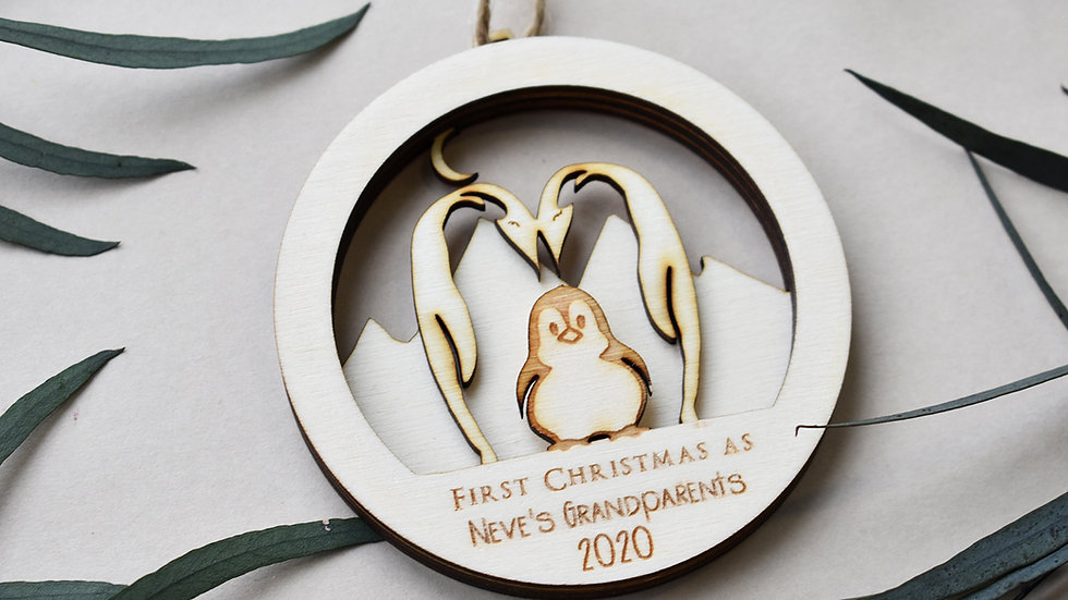 3 PenguinsChristmas bauble| Personalised bauble | Bauble