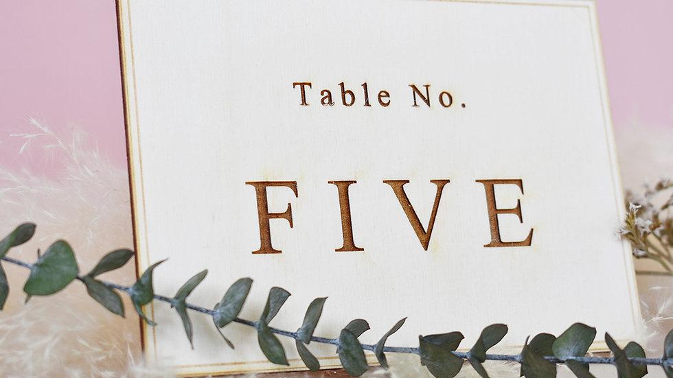 Elegant Wedding | Table Number | Table Number for Wedding