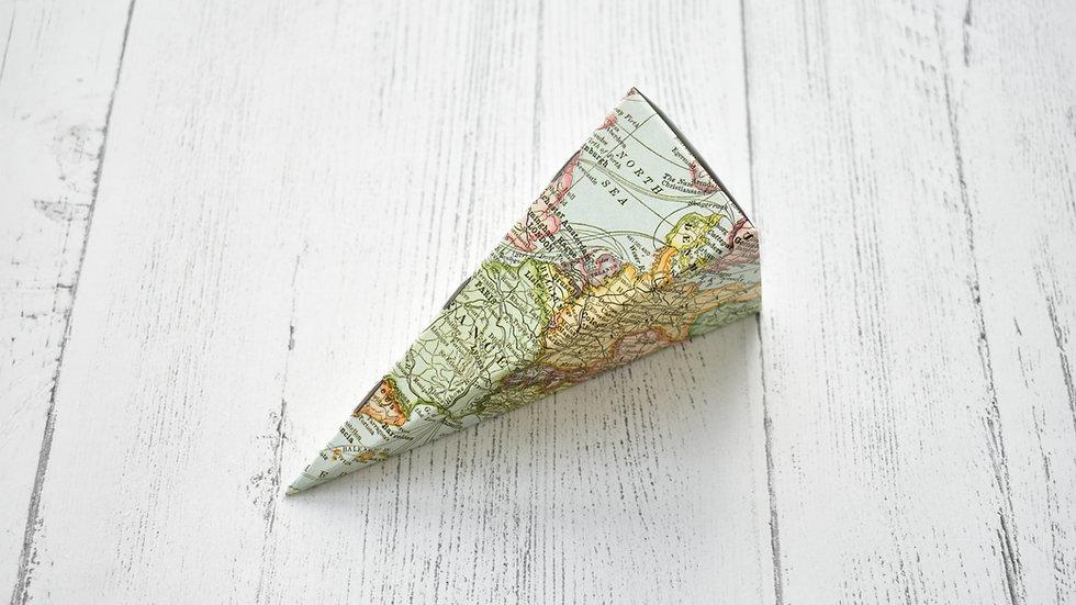 Map Confetti Cone | Confetti Cones | Confetti Cones DIY