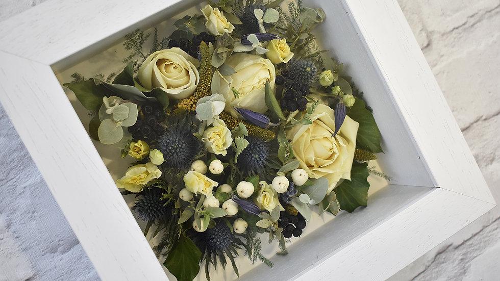 White Flower Preservation Box Frame