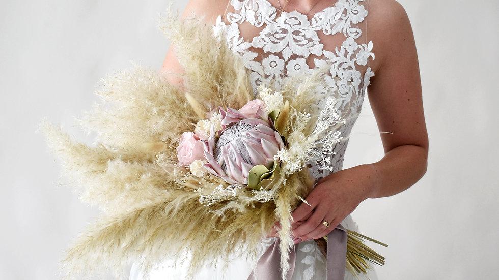Blush Bridal | Dried Flowers bouquet | Florist Lancashire