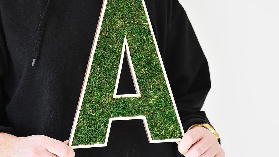 Moss Letters | Moss Art | Wooden Letters