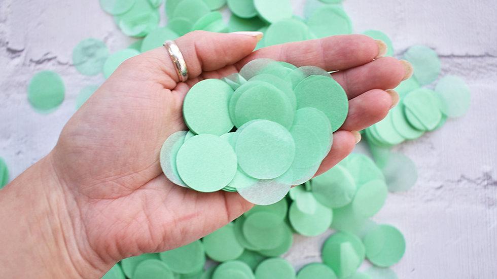 Mint Green Circle Confetti | Biodegradable Confetti | Paper Confetti