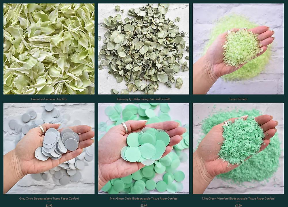 Eucalyptus Confetti | Biodegradable Confetti | Paper Confetti