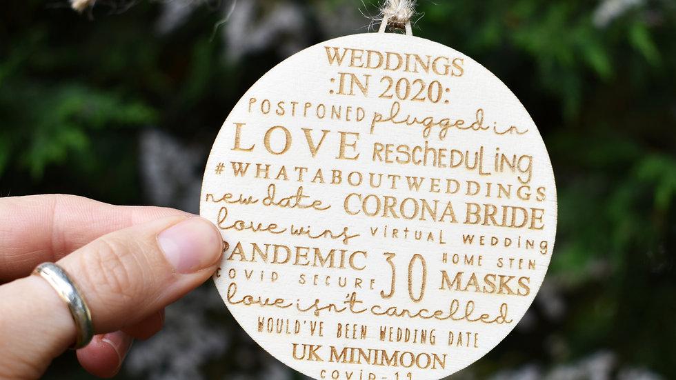 2020 Wedding | Christmas Bauble | Christmas Gifts UK