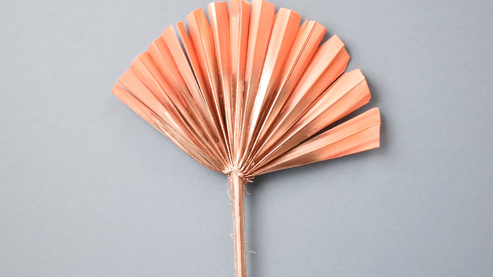 Coral & Rose Gold Cake Topper| Dried Flowers | Cake Topper