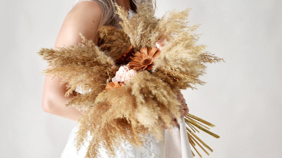 """""""Prosperity"""" Dried Flower Bridal Bouquet"""