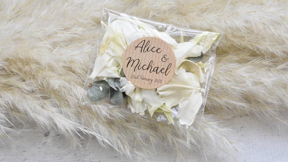 Confetti Bags | Natural Confetti | Personalised Confetti