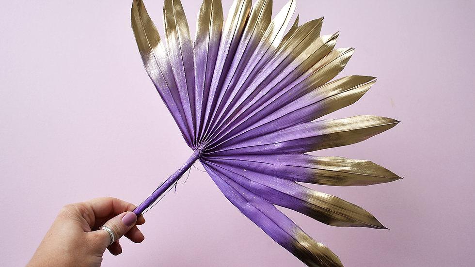 Purple & GoldCake Topper| Dried Flowers | Cake Topper