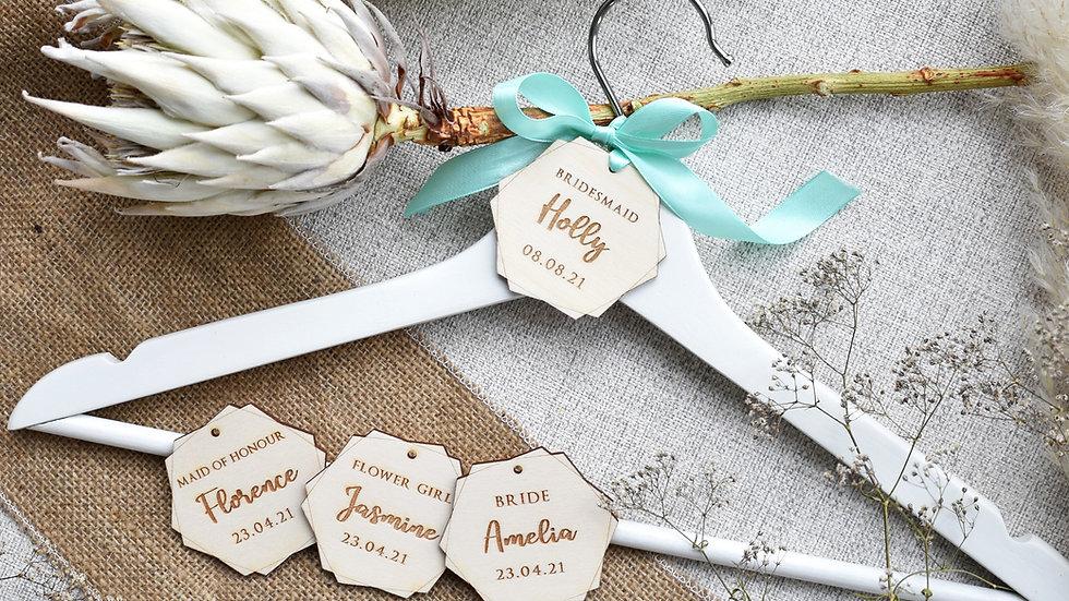 Wedding Hanger Tags | Bridal Hangers | Name tags