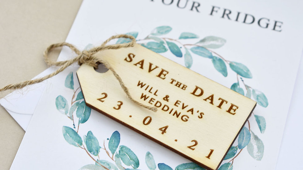 Elegant Luggage Label Save The Date