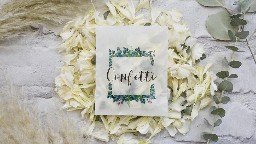 Confetti Packets Eucalyptus | Biodegradable Confetti | Confetti Bags