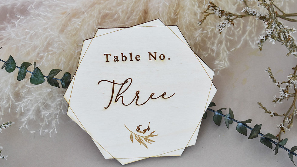 Geo Wedding | Table Number | Table Number for Wedding