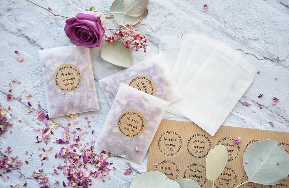 Pink Rose Confetti | Petal Confetti | Flower Petal Confetti