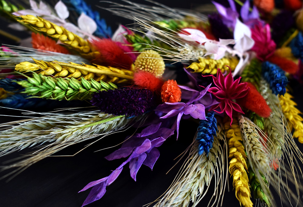 dried flower workshop. wreath making kit. wreath workshop